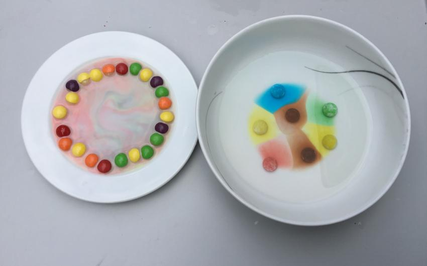 One of the experiments carried out by 5th class pupils.